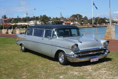 1957 Chevy Belair Stretch Limousine Style Distinction And Atude This Clic Piece Of American History Has It All The Original 4 Door Sedan